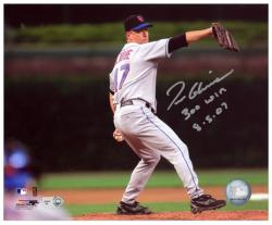 "Tom Glavine New York Mets 300th Win Autographed 8"" x 10"" Horizontal Photograph with 300 Win 8-5-07 Inscription"