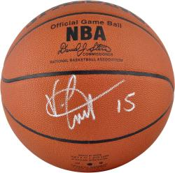 Vince Carter Dallas Mavericks Autographed Spalding Pro Leather Basketball - Mounted Memories
