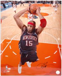 "Vince Carter New Jersey Nets Autographed 16"" x 20"" Photograph"