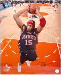 "Vince Carter New Jersey Nets Autographed 16"" x 20"" Photograph - Mounted Memories"