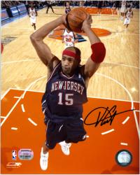 New Jersey Nets Vince Carter Autographed Photo - Mounted Memories