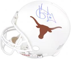 Vince Young Texas Longhorns Autographed Riddell Pro-Line Authentic Helmet - Mounted Memories