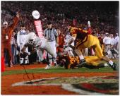Vince Young Texas Longhorns Autographed 16'' x 20'' End Zone Diving Photograph