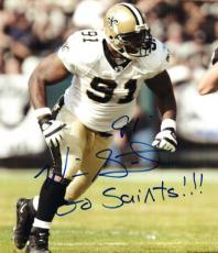 Autographed WILL SMITH 8X10 New Orleans Saints photo