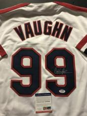 Autographed/Signed CHARLIE SHEEN Wild Thing Ricky Vaughn Jersey PSA/DNA COA Auto