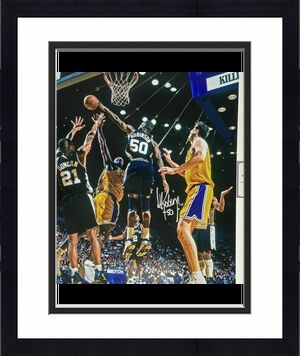Autographed/Signed DAVID ROBINSON San Antonio Spurs 16x20 Photo Fanatics COA