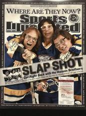 Autographed/Signed HANSON BROTHERS Slap Shot Movie 16x20 Hockey Photo JSA COA
