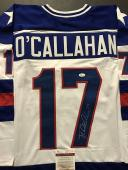 Autographed/Signed JACK O'CALLAHAN White Team USA Miracle 1980 Jersey JSA COA