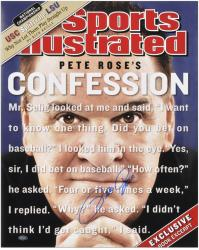"Pete Rose Cincinnati Reds Sports Illustrated Cover Autographed 16"" x 20"" Photograph -"