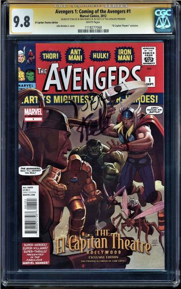 Avengers #1 Cgc 9.8  2x Ss Stan Lee, Romita Jr. El Capitan Theater