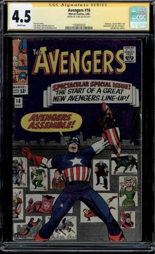 Avengers #16 Cgc 4.5 White Pages Stan Lee Ss Classic Kirby Cover Cgc #1508493020
