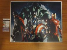 AVENGERS 16x20 Photograph Signed/Auto by Stan Lee JSA Iron Man America HULK Thor