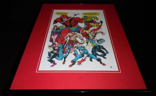Avengers 1978 Framed 16x20 Poster Display Official RP Black Panther Hulk