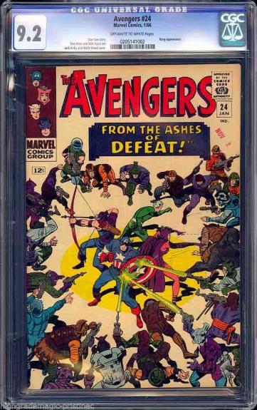 Avengers #24 Cgc 9.2 (1965) Oww Stan Lee Story Cgc #0205141002