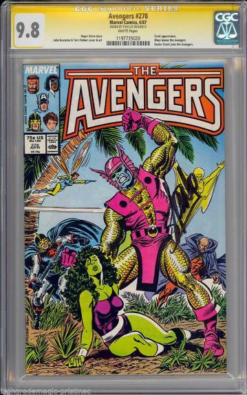 Avengers #278 Cgc 9.8 White Stan Lee Ss Single Highest Graded #1197735020