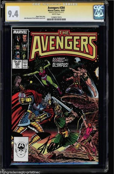 Avengers # 284 Cgc 9.4 White Ss Stan Lee Signed Cgc #1206517015