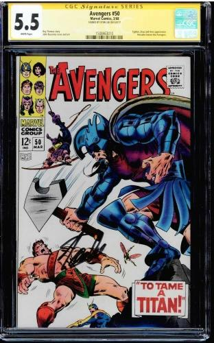 Avengers #50 Cgc 5.5 White Pages Stan Lee Ss Signed Cgc #1508463010