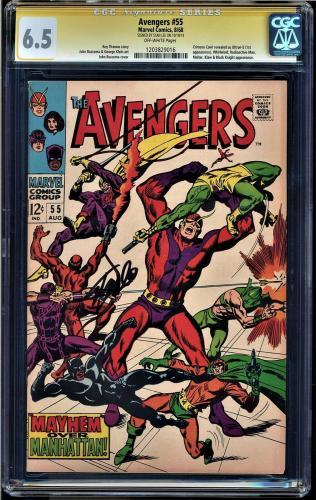 Avengers #55 Cgc 6.5 Ss Stan Lee Crimsom Cowl Is Ultron-5 Ist App #1203829016