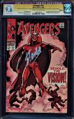 AVENGERS #57 CGC 9.6 SS STAN LEE 1ST APP SILVER AGE VISION #1206678018 Restored