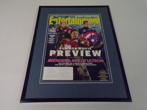 Avengers Age of Ultron Framed 11x14 ORIGINAL 2015 Entertainment Weekly Cover B