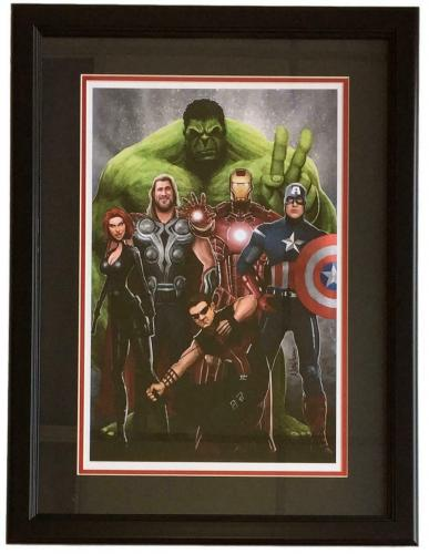 Avengers Framed 12x18 Lithograph