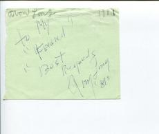 Avon Long Jazz Singer Tony Nominee The Sting Trading Places Signed Autograph