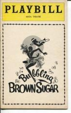 Avon Long Josephine Premice Bubbling Brown Sugar 1976 Opening Night Playbill