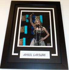 Avril Lavigne Signed - Autographed Canadian Singer Songwriter Actress 8x10 inch Photo - Custom FRAME - Guaranteed to pass PSA or JSA