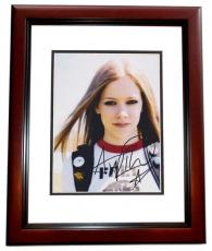Avril Lavigne Autographed 8x10 Photo MAHOGANY CUSTOM FRAME