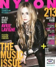 Avril Lavigne Signed Authentic Autographed Nylon Magazine PSA/DNA #AC55784