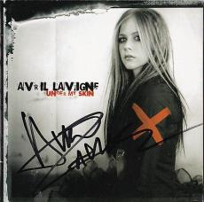 Avril Lavigne Signed Cd Booklet Under My Skin Autograph In-person Coa