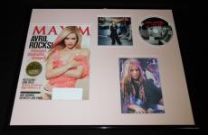 Avril Lavigne Signed Framed 16x20 Let Go CD Photo & 2008 Maxim Cover Display