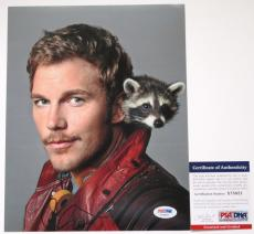 AWESOME MOVIE!! Chris Pratt Signed GUARDIANS OF THE GALAXY 8x10 Photo #1 PSA/DNA