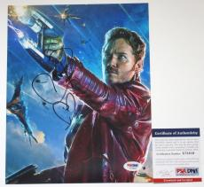AWESOME MOVIE!! Chris Pratt Signed GUARDIANS OF THE GALAXY 8x10 Photo #2 PSA/DNA