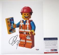 AWESOME MOVIE!! Chris Pratt Signed LEGO MOVIE 8x10 Photo #4 PSA/DNA