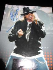 "Axl Rose Signed Autograph 11x14 Photo Guns N' Roses ""gn'r Lies"" Slash Coa C"