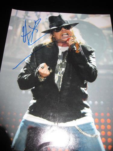 "Axl Rose Signed Autograph 11x14 Photo Guns N' Roses ""gn'r Lies"" Slash Coa C"