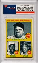 Babe Ruth / Hank Aaron / Willie Mays New York Yankees / Atlanta Braves / San Francisco Giants1973 Topps #1 Card