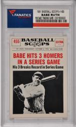 Babe Ruth New York Yankees 1961 Baseball Scoops #455 Card