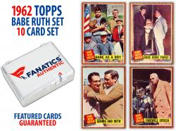 Babe Ruth New York Yankees 1962 Topps 10 Card Set #'s 135-144