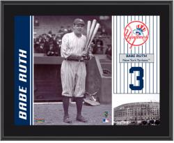 "Babe Ruth New York Yankees Sublimated 10"" x 13"" Plaque"