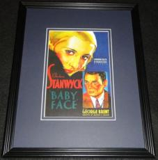 Baby Face Framed 11x14 Poster Display Official Repro Barbara Stanwyck
