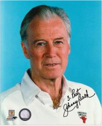 "Johnny Bach Chicago Bulls Autographed 8"" x 10"" Photo with ""3 Peat"" Inscription - Mounted Memories"