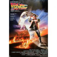 'Back to the Future' Autographed 26.5X38.5 Movie Poster Reprint