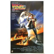 'Back to the Future' Cast Autographed 11X17 Movie Poster Reprint