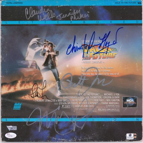 Back To The Future Cast Autographed Laserdisc Cover with Multiple Signatures - JSA