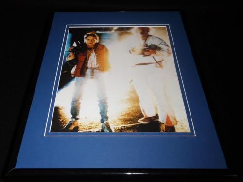 Back to the Future Framed 11x14 Photo Display Michael J Fox Christopher Lloyd