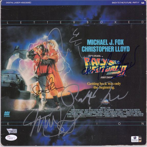 Back To The Future II Cast Autographed Laserdisc Cover with Multiple Signatures - JSA