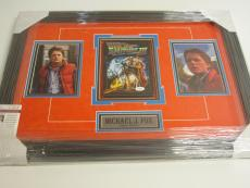 Back To The Future III Michael J Fox Signed Autographed DVD Cover Framed Jsa Coa