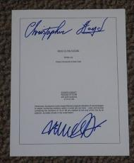 Back To The Future Michael J Fox Christopher Lloyd Signed Full 96 Page Script